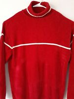 P J Mark mens sweater red knit pull over shirt size 2 XL turtleneck long sleeve