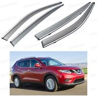 Window Visor Vent Shade Rain/Sun/Wind Guard for Nissan X-TRAIL 2014-2015 14 15