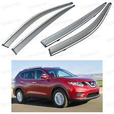 Front & Rear Side Window Visor Deflector Vent Shade for Nissan X-TRAIL 2014-2015