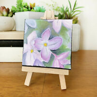 3x3 Spring Lilacs Mini Painting Original Purple Lilac Oil Painting, Shabby Chic