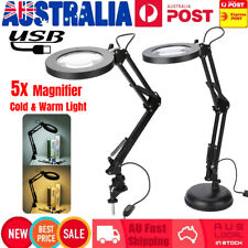 5X Magnifying Lamp Desk Table Top Glass Beauty Nail Salon Tattoo Magnifier Light