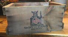 VINTAGE Viking Tacks And Staples WOOD CRATE