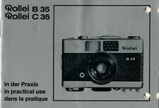 ROLLEI - B 35 C 35 - Anleitung Manual - B2152