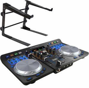 Hercules Universal DJ USB Bluetooth DJ Controller + keepdrum Laptopständer