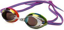 Speedo Jr Vanquisher 2.0 Mirrored Swim Goggles, Rainbow Tye-Dye