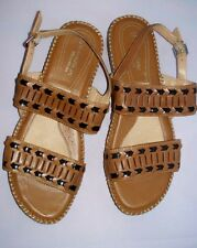 Women's Brown Leather NATURALIZER Hooper Comfort Sandals Size 10M