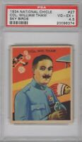 1934 National Chicle Sky Birds #27 Col. William Thaw Graded PSA 4.5
