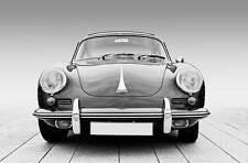 Leinwand Bild Porsche Oldtimer 356 Schwarzweiß Traum Bilder Autos Klassiker XXL