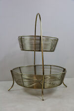 Gold Metal Wire Tier Rack Buffet Display Stand Basket Kitchen Fruit Vegetables