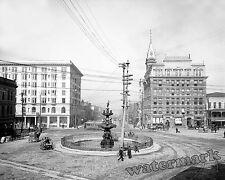 Photograph Vintage Montgomery Alabama Court Square & Commerce Street 1906 8x10