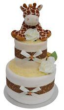 Gorgeous 2 Tier New Baby Unisex Giraffe Nappy Cake New Baby Boy Girl Shower Gift