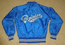 Vintage Rainier Beer West End Jacket Small Union Made Usa Blue Worker