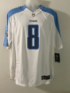 tenessee titans Mariota Large Size On Field Jersey White