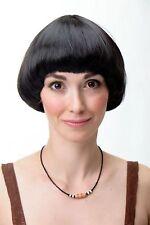 PERRUQUE pour femme Bob PAGE rond court lisse brun foncé Français yzf41060-4