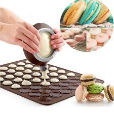 UK 48 Cavities Macaron Macaroon Baking Mat Cake Decorating Tray Mat
