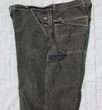 Vintage Tommy Hilfiger Black Carpenter Jeans Size 40x32 Button Fly Pockets