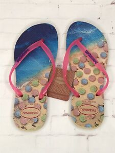 Havaianas LOGO Slim PAISAGE Flip Flops Sandal JELLY THONGS EU 37/38 ORIGINAL
