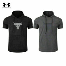 Men's Under Armour Project Rock Terry Short Sleeve Hoodie Size