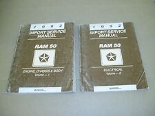 1992 Dodge Ram 50 pickup truck shop service repair manual 2 book SET