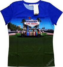Paul Smith Japan Ladies T-Shirt Top w/Stripes Mini Cooper Print-Size JP XL/US 8