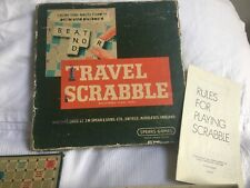 Vintage Travel Scrabble Game With Clip In Tiles Spear's Games 100% Complete