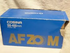 Cosina 100-400mm Auto Focus AF telescopic fits  sony alpha  F 4.5-6.7  minolta