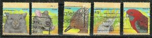AUSTRALIA -  1987 WILDLIFE Scott #1035a-e COMPLETE YEAR SET Used Stamps WYSIWYG