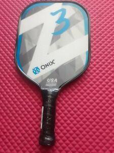 ONIX PICKLEBALL PADDLE Z3 BLUE & WHITE *NEW* TENNIS & RACQUET  SPORT