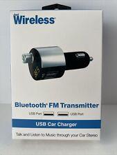 Just Wireless Bluetooth FM Transmitter Dual Port USB Car Charger
