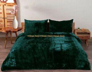 Crushed Bedding Solid Velvet Ultra Luxe Comforter Doona Bedspread Duvet Cover