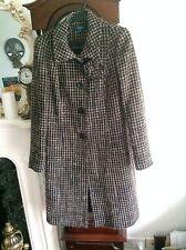 Knee Length Check Regular Size Coats & Jackets for Women