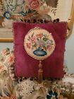 Antique needlework  tapestry cushion pillow perfect
