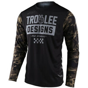 Troy Lee Designs TLD Scout GP Off-Road MX Jersey Camo Green/Black - Large LG L