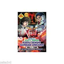 Mobile Suit Gundam Unicorn Complete OVA 1 - 7 + 2 Specials DVD Box English Dub