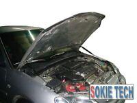 92-95 Honda Civic EK EG EJ Black Color Gas Bonnet Shock Stainless Hood Damper