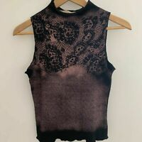Penny Silvian women's Lace Painted Top Italian Design Size S
