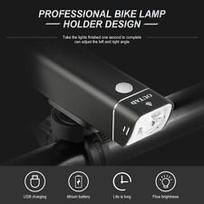 USB Rechargeable LED Bicycle Headlight Bike Head Light Front Lamp Cycling + Lamp
