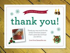 16 Personalised Christmas Thank you cards notes and envelopes add your own photo