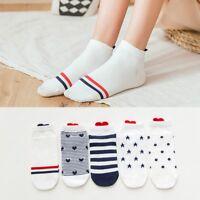 4PCS Fashion Women Men Ankle Socks Casual Work Heart-shaped Love Printed Socks