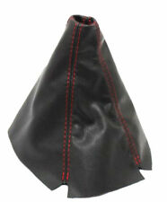 Black w/Red Stitch Manual Shift Boot Real Leather For 94-01 Acura Integra