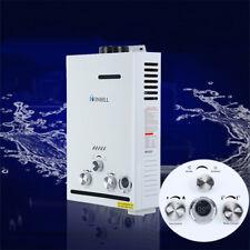 8L Chauffe-eau RÉSERVOIR PROPANE électrique Pour eau chaude instantanée 2000Pa