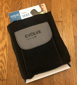 Evolve by Gaiam Black Yoga Mat Bag Exercise Meditation FITNESS HEALTH TOTE NEW