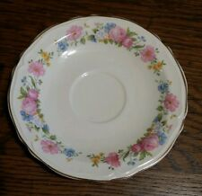 "1933 Edwin M Knowles China Co 33-6 - One Pink Floral 6 1/4"" Saucer"