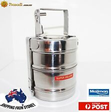 Stainless Steel Picnic Lunch tiffin box 2 Tier AU Stock Express Shipping