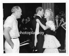 GINGER ROGERS JEAN PIERRE AUMONT DANCE FOR DIRECTOR CANDID MOVIE PORTRAIT 1946