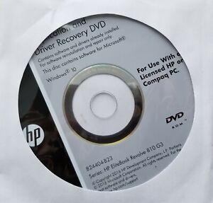 Genuine HP EliteBook Revolve 810 G3 Application & Driver Recovery DVD 824404-B23