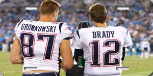 Tom Brady Rob Gronkowski New England Patriots Bad Boys Poster License Plate