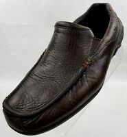 Merrell Driving Loafers Mens Espresso Brown Pebbled Leather Slip On Shoes Size 8
