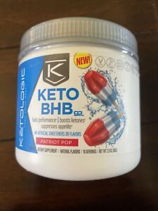 Ketologic Keto BHB - Patriot Pop, 2.9 Oz, Exp 02/2021 - Sealed & New