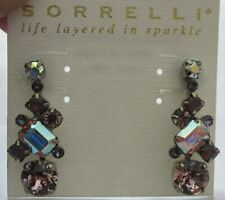 Ecf6Asve antique silver tone Sorrelli Violet Eyes Earrings